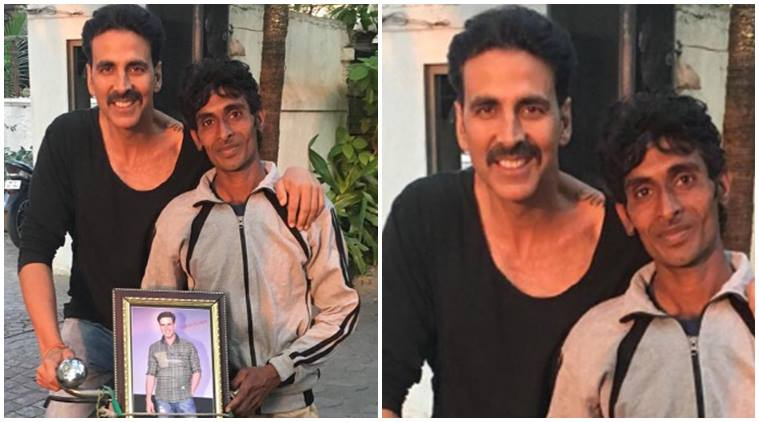 akshay kumar fan came from haridwar to mumbai on cycle to meet akshay kumar
