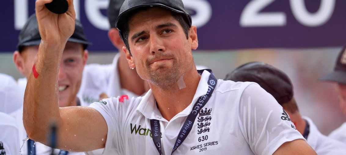 alastair cook lefts the captaincy of england cricket team