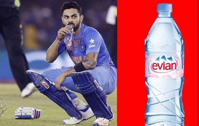 virat kohli विराट कोहली drinks costly water