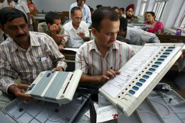 Image result for bjp candidate blamed tampering in evm machine