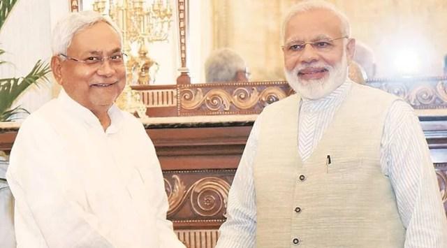 Image result for nitish kumar and narendra modi