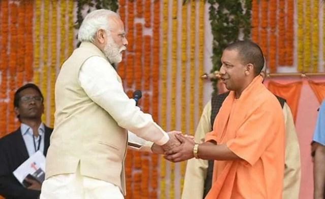 Image result for yogi adityanath and narendra modi
