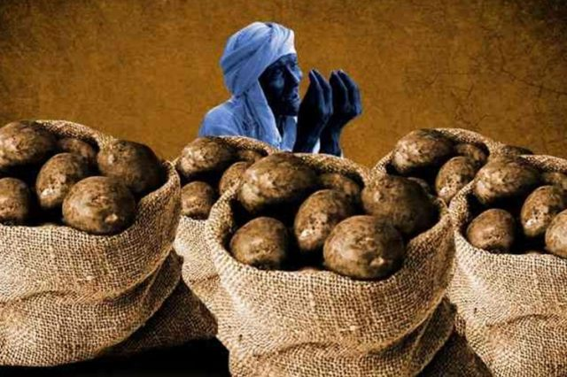 Image result for farmer selling potatoes in india