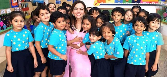 Image result for bollywood stars kids study in ambani school