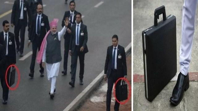 prime minister bodyguard बॉडीगार्ड suitcase