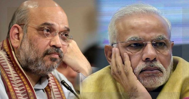 Image result for modi and amit shah sad