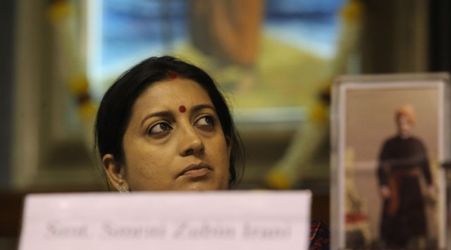 Image result for ink on smriti irani face in poster