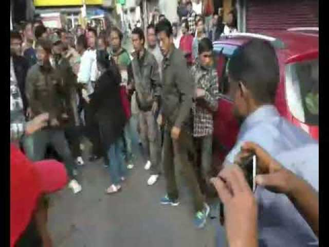 village गांव people beat bjp leader