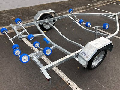 Quality Single Axle Boat Trailer with rollers