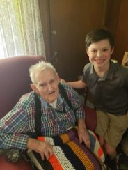 John with Granddad on Father's Day