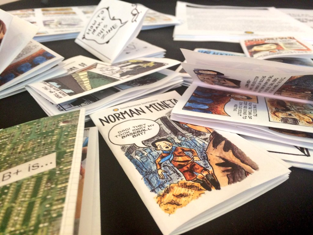 Image of comic books strewn on the table