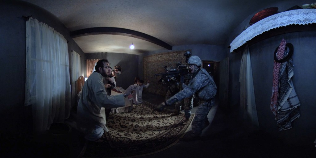 Inside the virtual reality with the soldiers