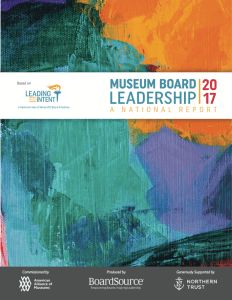 Cover Image of the Museum Board Leadership Report 2017
