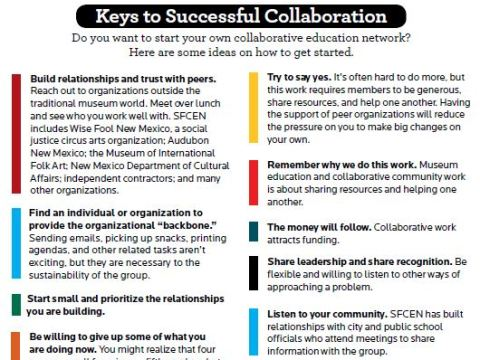 A graphic list of the keys to successful collaborations.