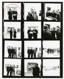 Image of a negative sheet with various images of Dr. Martin Luther King, Jr.