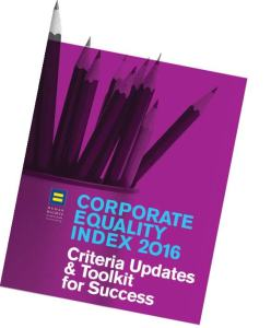 Cover of the corporate equality Index 2016.