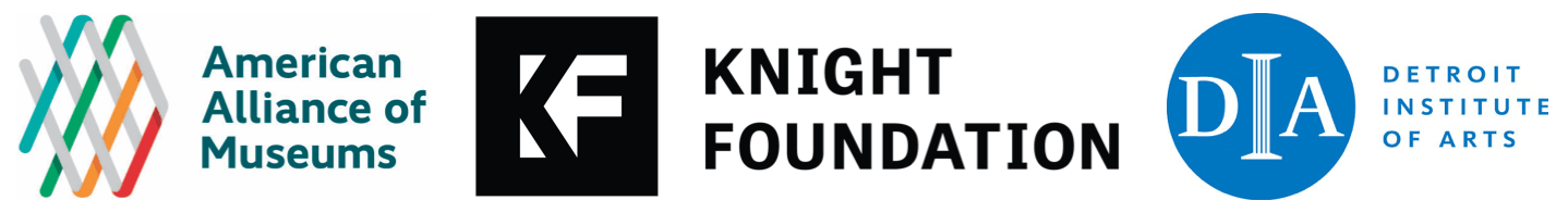 AAM, Knight Foundation, and DIA logos