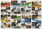 View of poster with eight different modules related to World War I.