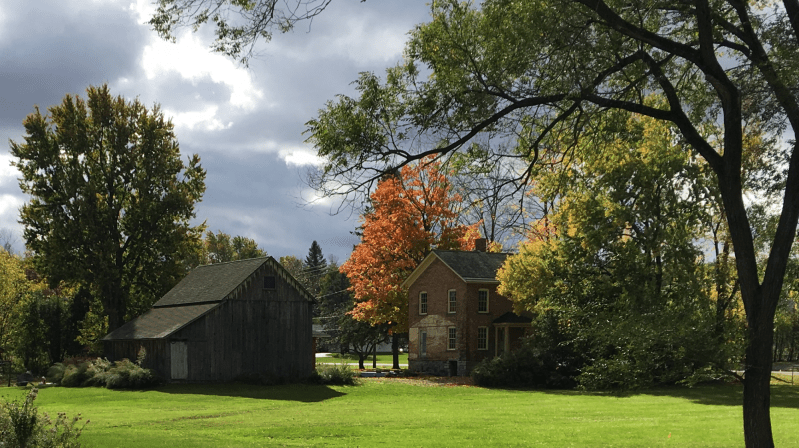 An exterior view of the Harriet Tubman historic site.