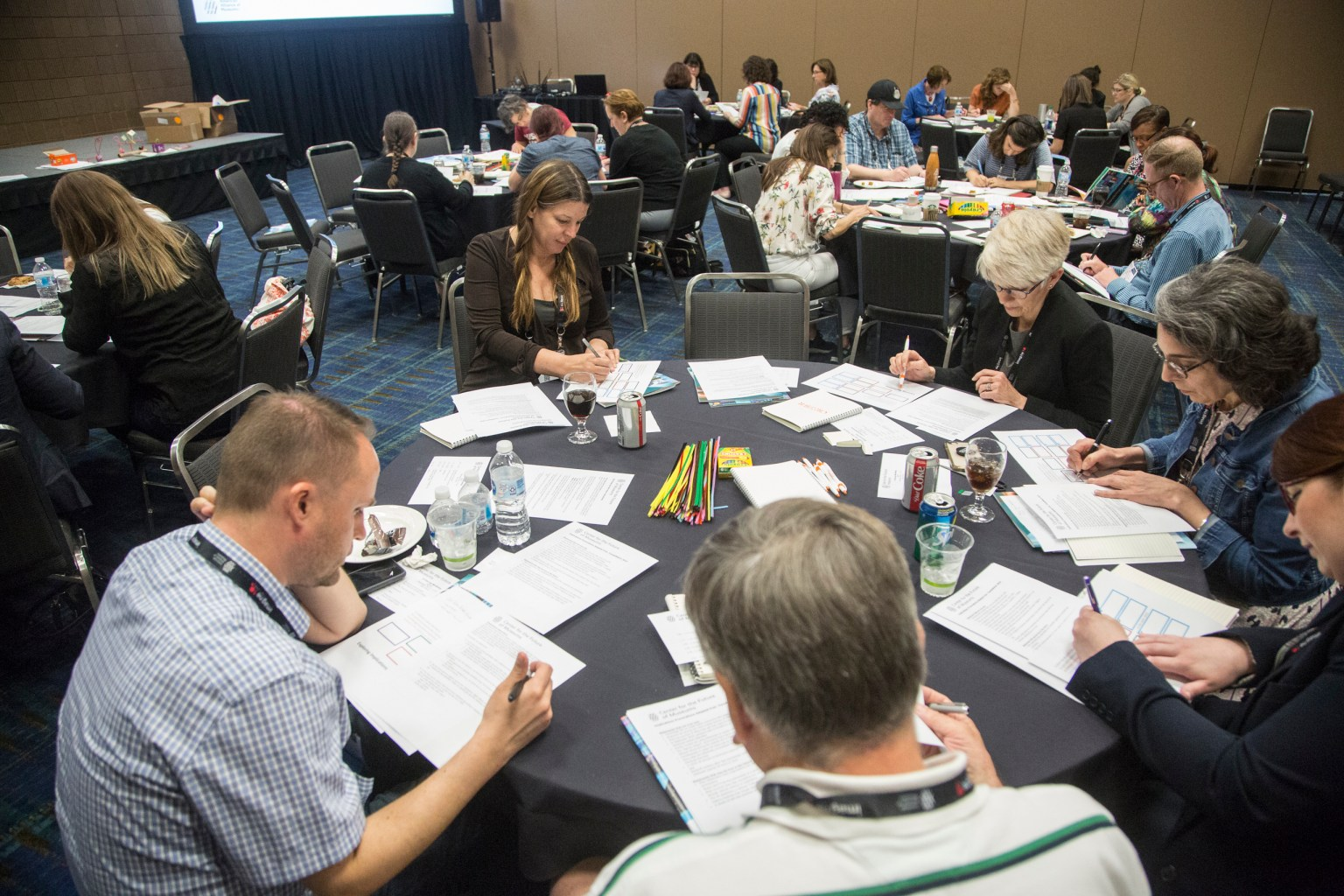 New Orleans, LA - AAM Annual Meeting and MuseumExpo 2019 - Speakers and Attendees during A Futuring Workshop at the American Alliance of Museums annual meeting at the Ernest Morial Convention center here today, Wednesday May 22, 2019. Since 1906 the Alliance has been a leader in developing best practices and advocating for museums, as well as providing a host of opportunities to museum staff and volunteers. Photo by © AAM/Matt Herp 2019 Contact Info: todd@corporateeventmages.com