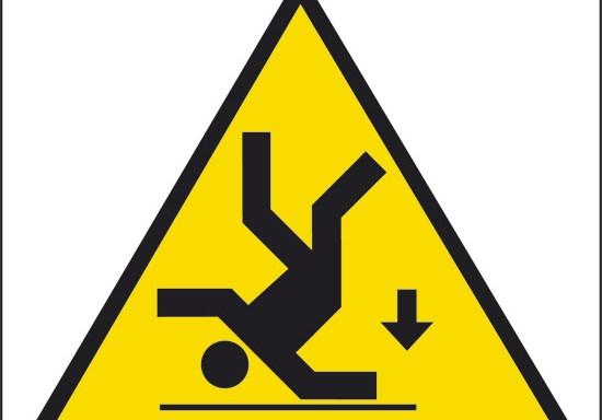 (pericolo di caduta)