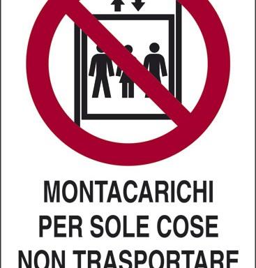 MONTACARICHI PER SOLE COSE NON TRASPORTARE PERSONE