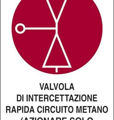 VALVOLA DI INTERCETTAZIONE RAPIDA CIRCUITO METANO (AZIONARE SOLO IN CASO D'INCENDIO)