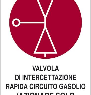 VALVOLA DI INTERCETTAZIONE RAPIDA CIRCUITO GASOLIO (AZIONARE SOLO IN CASO D'INCENDIO)