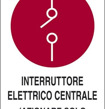 INTERRUTTORE ELETTRICO CENTRALE (AZIONARE SOLO IN CASO D'INCENDIO)