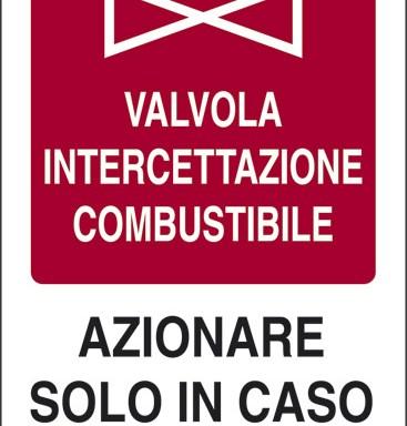 VALVOLA INTERCETTAZIONE COMBUSTIBILE AZIONARE SOLO IN CASO DI INCENDIO