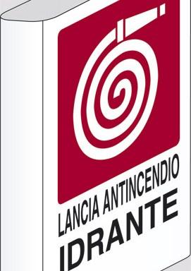 LANCIA ANTINCENDIO IDRANTE N°  a bandiera