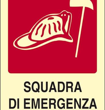 SQUADRA DI EMERGENZA V.F. luminescente