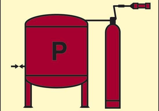 P (installazione polvere) luminescente