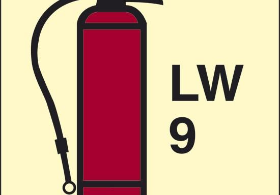 LW 9 (estintore a schiuma) luminescente
