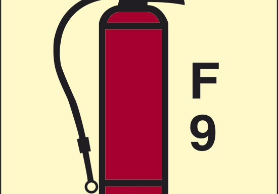 F 9 (estintore a schiuma) luminescente