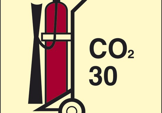 CO2 30 (estintore a CO2 con ruote) luminescente