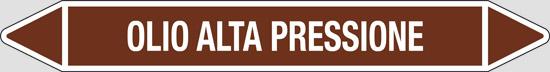 OLIO ALTA PRESSIONE (oli minerali, oli vegetali e oli animali, liquidi combustibili e/o infiammabili)