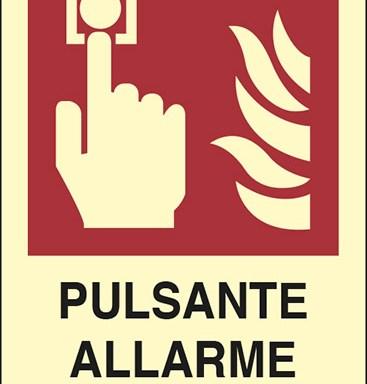 PULSANTE ALLARME ANTINCENDIO  luminescente