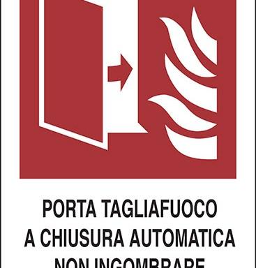 PORTA TAGLIAFUOCO A CHIUSURA AUTOMATICA NON INGOMBRARE GLI SPAZI ANTISTANTI