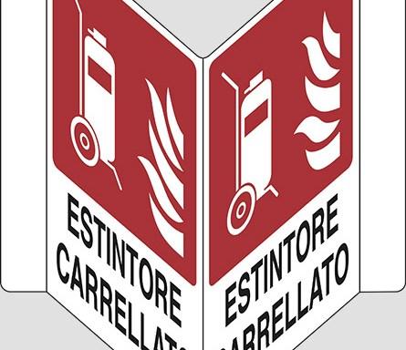 """ESTINTORE CARRELLATO  """"V"""""""