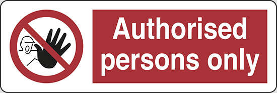 Authorised persons only