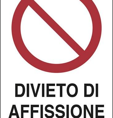 DIVIETO DI AFFISSIONE ART. 663 C.P.