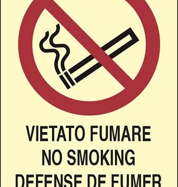 VIETATO FUMARE NO SMOKING DEFENSE DE FUMER RAUCHEN VERBOTEN luminescente