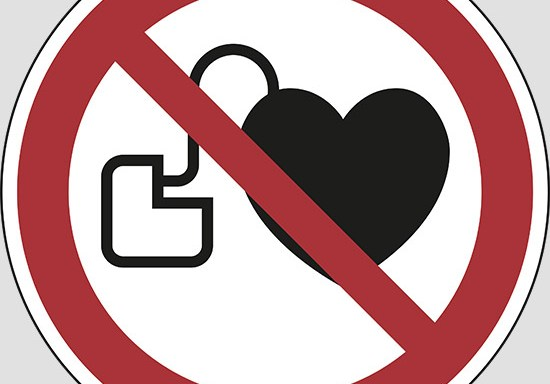 (no access for people with active implanted cardiac devices)