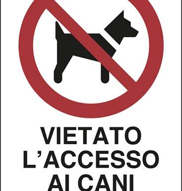 VIETATO L'ACCESSO AI CANI AD ESCLUSIONE DEI CANI PER NON VEDENTI