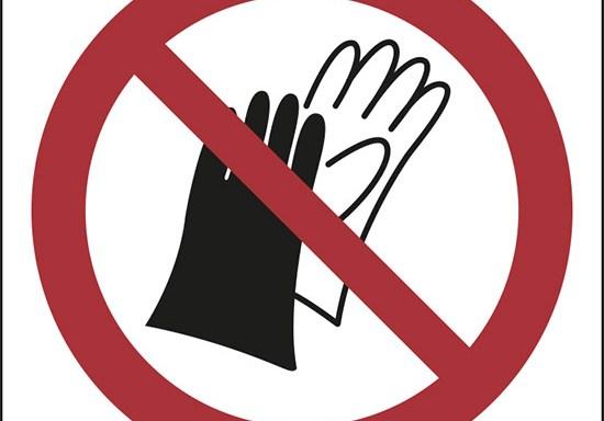 (vietato indossare i guanti – do not wear gloves)