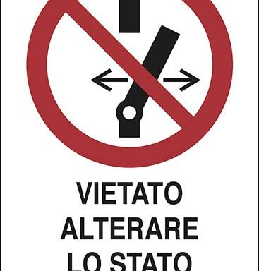 VIETATO ALTERARE LO STATO DELL'INTERRUTTORE