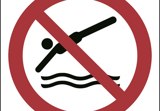 (niente immersioni – no diving)