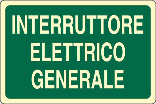 INTERRUTTORE ELETTRICO GENERALE luminescente