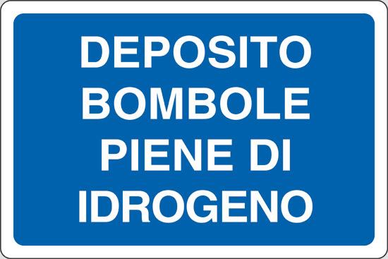 DEPOSITO BOMBOLE PIENE DI IDROGENO